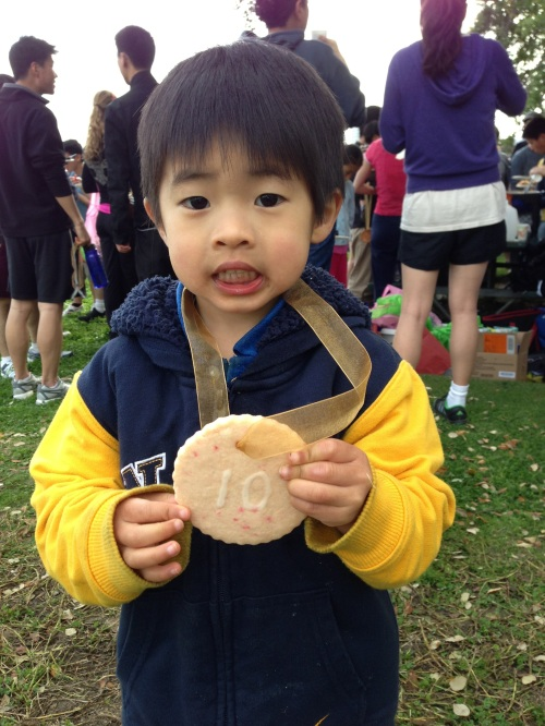 CC with his 10K cookie medal